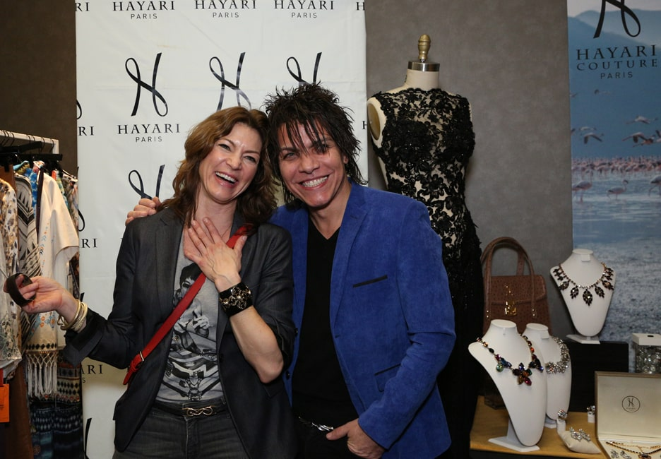Rya Kihlstedt of « Heroes Reborn » with the vintage resin and Swarovski cuff and Nabil Hayari