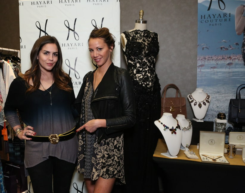 Katie Maloney with the Hayari Paris belt and Kristen Doute, of « Vanderpump Rule's »