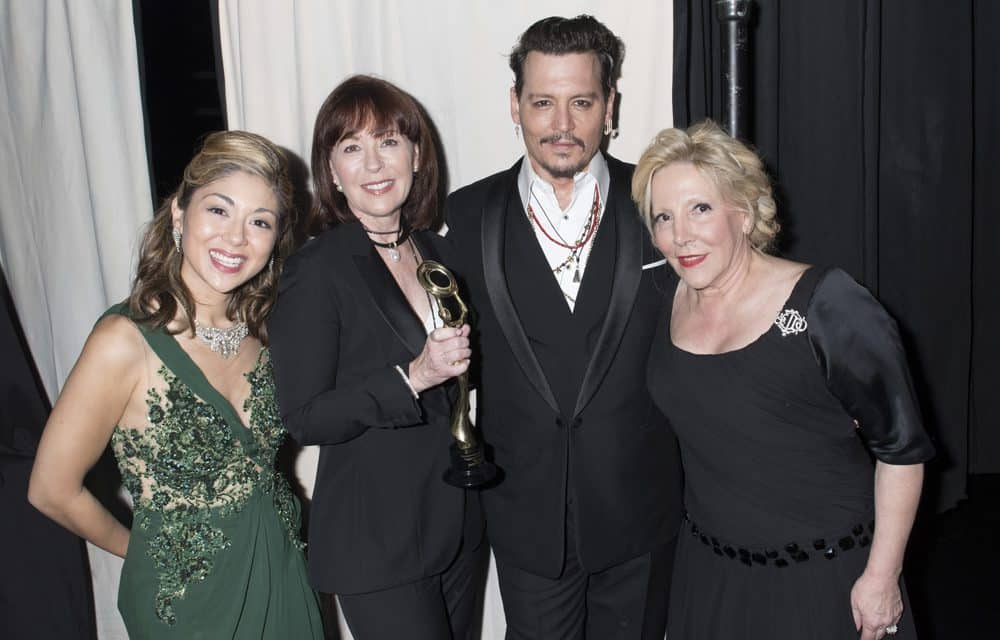 Pamela Price in HAYARI PARIS, Pamela Baxter President of Christian Dior Couture, Johnny Depp and Michele Elysabeth. Picture by Michael Bezjian.