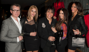 Hugues Alard; Nabil Hayari and Actresses Katie Maloney, Sheena Marie and Katie Doute attend Le Lounge on February 22, 2013 in Los Angeles, California. (Photo by Michael Bezjian/WireImage)