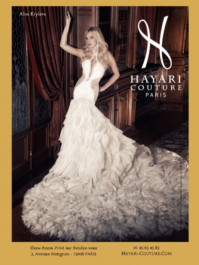 Hayari paris 39 made to measure wedding dresses the french for French couture