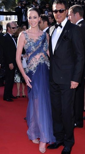 Red Carpet Cannes 2013 Melanie Mar in Hayari The Immigrant with Marion Cotillard copy
