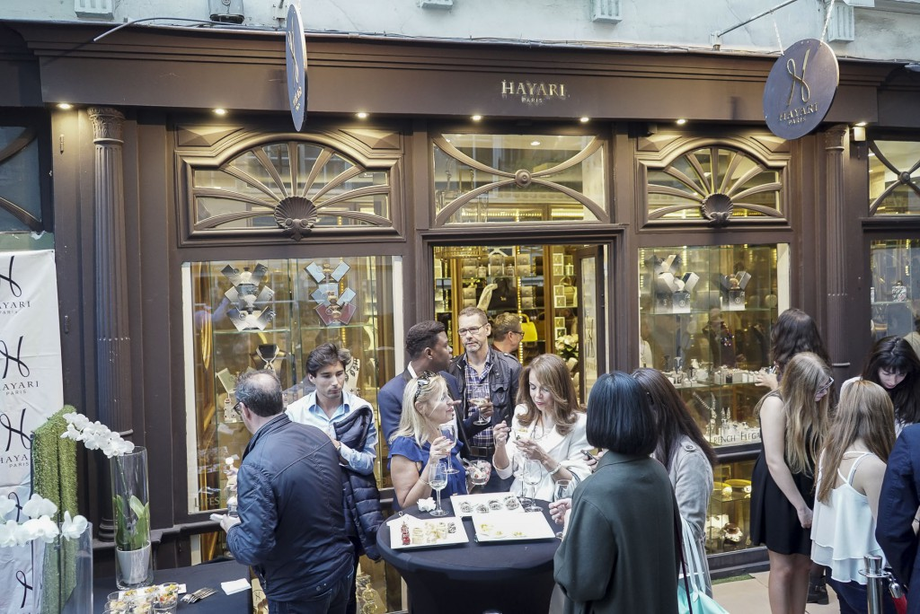 Cocktail at the flagship store, 1 cour du Commerce Saint André in Paris