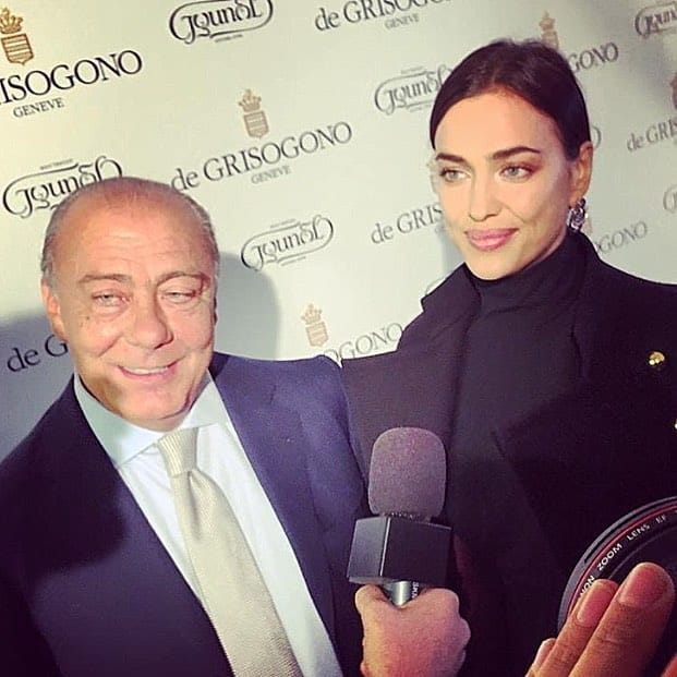Fawaz Gruosi and Irina Shayk
