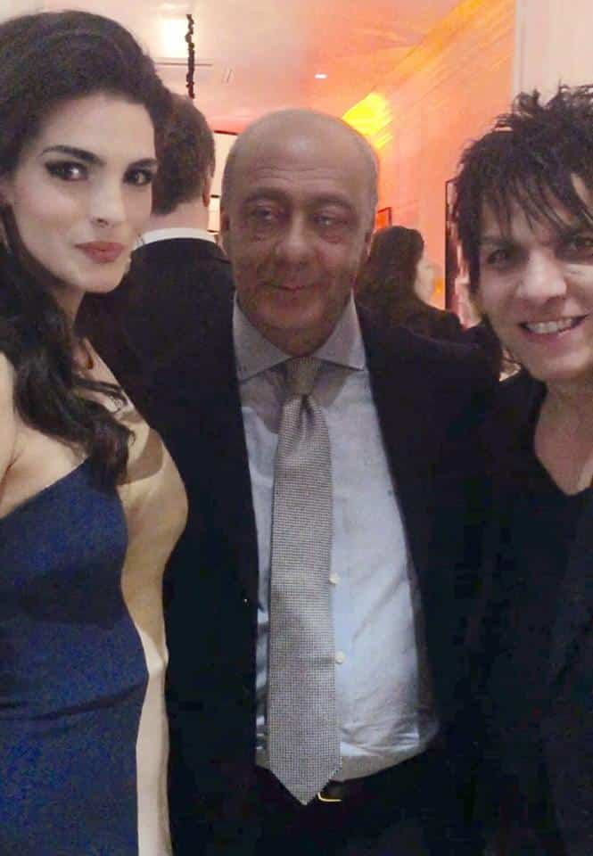 Bojana Planic with Fawaz Gruozi and Nabil Hayari