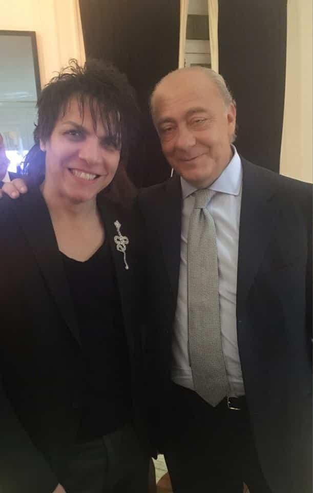 Nabil Hayari with Fawaz Gruosi