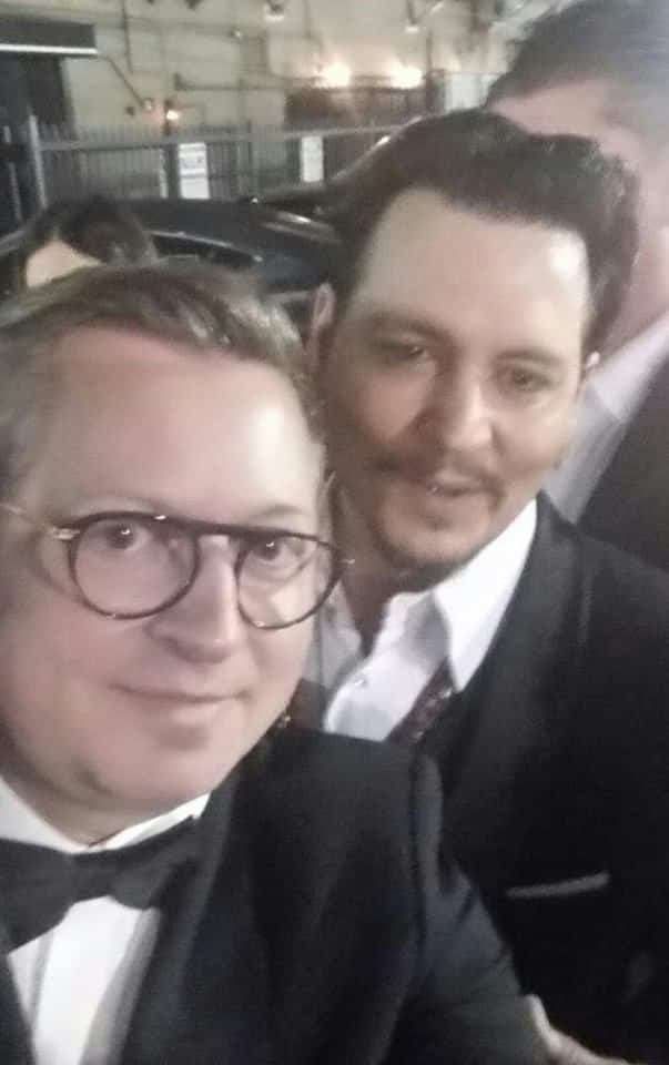 Hugues Alard, CEO of HAYARI PARIS with Johnny Depp