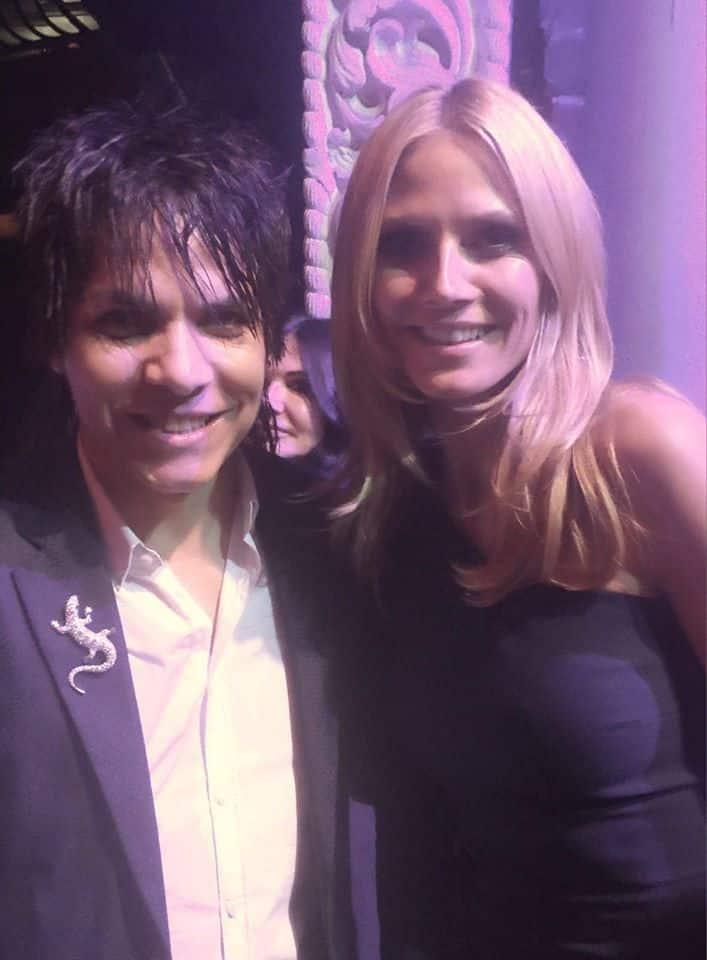 Nabil Hayari with Heidi Klum