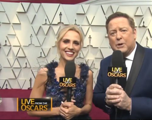 Jessica Holmes in hayari for the Oscars